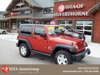 This 2009 Jeep Wrangler has a clean Carfax and is Vista