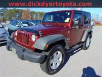 Options:  2009 Jeep Wrangler X|Red|**New