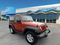2009 Jeep Wrangler X 4WD, Automatic, 3.8L V6,Hard Top,