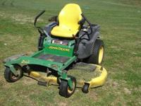 For sale is a 2009 John Deere Z465 Zero Turn mower. I