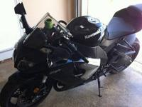 For Sale is a 2009 Kawasaki Ninja ZX-10R. Bike is in