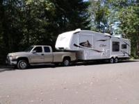 2009 Cougar by Keystone 34' 5th wheel, 3 slides,