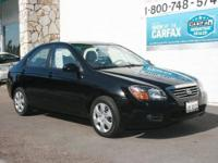 This beautiful 2009 Kia Spectra EX is the perfect Sedan