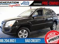 4D Sport Utility and 2009 Kia Sportage. Get Hooked On