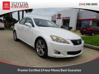 CARFAX One-Owner. White 2009 Lexus IS 350 RWD 6-Speed