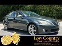 2009 Lexus IS 250 Black w/Leather Trimmed Interior.