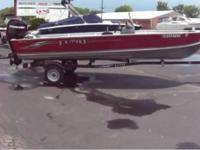 2009 lund ssv 18' side counsel 2009 mercury 60hp