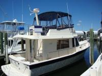 Step on board this 1-owner Mainship Trawler and you