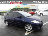 Mazda5 Sport trim. FUEL EFFICIENT 27 MPG Hwy/21 MPG