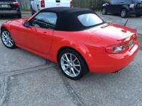 2009 Mazda Miata Grand Touring, true red/black leather,
