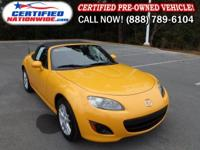 SPORTY. This 2009 Mazda Miata convertible is well
