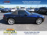 This 2009 Mazda Miata Sport in Blue is well equipped