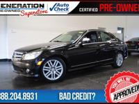 Black and 2009 Mercedes-Benz C-Class. Here it is! Hurry