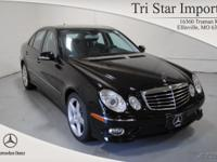Options Included: E350w4 $53200, 040 Black, 141 Black