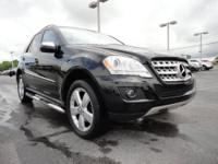 ML350, 4MATIC, Black w/Full Leather Seat Trim, and