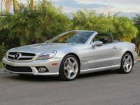 2009 MERCEDES BENZ SL550 AMG SPORT PACKAGE, AUTO WITH