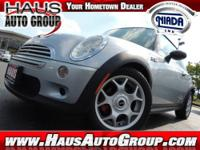 2009 Mini Cooper 1.6 turbocharged, 6-speed. Only 38152
