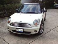 2009 Mini Cooper Coupe Black roof Pepper white body