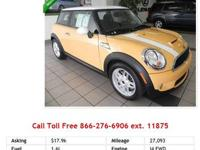 2009 Mini Cooper S Mellow Yellow I4 1.6L Gas FWD New