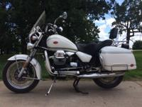 1100 cc Mileage: 10,300; 1 owner White Saddle bags,