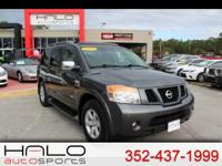 2009 NISSAN ARMADA SE WITH 3RD ROW SEATS LEATHER AND