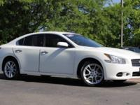 2009 Nissan Maxima in Winter Frost Pearl and Power