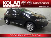 Murano S, AWD, Clean Auto Check History Report, and