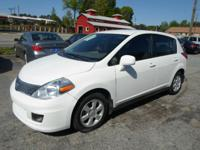 2009 NISSAN VERSA SL WHITE ON TAN AUTOMATIC WITH ONLY