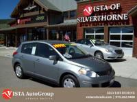 This 2009 Nissan Versa has a clean Carfax and is Vista