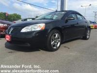 2009 Pontiac G6 Sedan. Cloth Seats, Front Bucket Seats,