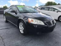 Clean CARFAX. Carbon Black Metallic 2009 Pontiac G6 GT