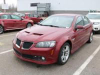 Options:  2009 Pontiac G8|Sport Red Metallic/Onyx|V6