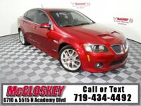 Start your engines in this 2009 Pontiac G8 GXP with the