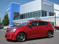 2009 Pontiac Vibe GT FWD - 41,000 miles - Red with