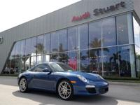 Aqua Blue Metallic 2009 Porsche 911 Carrera RWD 6-Speed