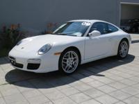 3.6L H6 SMPI DOHC 24V 345 hp, RWD, Carrara White, and