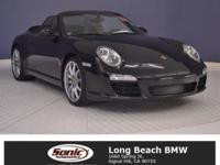 Clean CarFax! This Black '09 Porsche 911 has Leather