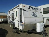 for sale is a 2009 Puma 19FS Travel Trailer with sink