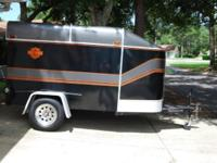 10 X 6 Motorcycle Trailer set up to carry one