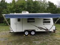 Double Slide Rockwood Ultra Lite Travel Trailer, Rear