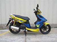 50CC Scooter for sale gets 100 miles per tank of gas.