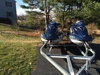 These jets skis are in near perfect condition. They