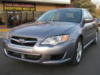 2009 Subaru Legacy 2-5I 2.5i Sedan Gray H4 2.5L Gas