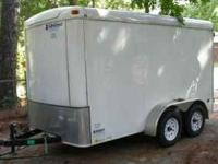2009 United enclosed cargo trailer, 6' X 12', extra