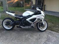 "2009 GSXR750 stretched 8"" and decreased 3"". Tuner and"