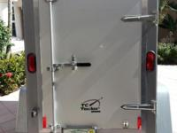 2009 TC Trekker ENCLOSED CARGO TRAILER 4x6x5, white.