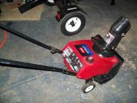 2009 Toro powerlite single stage snow thrower 98cc