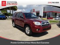 CARFAX One-Owner. Salsa Red Pearl 2009 Toyota 4Runner