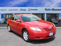 2009 TOYOTA CAMRY LE IN BARCELONA RED METALLIC!!  LOCAL