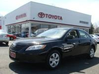 2009 CAMRY LE-4CYL-FWD-AUTOMATIC-BLACK, ASH INTERIOR.